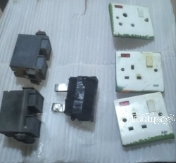 Electrical socket and fuse insulator.